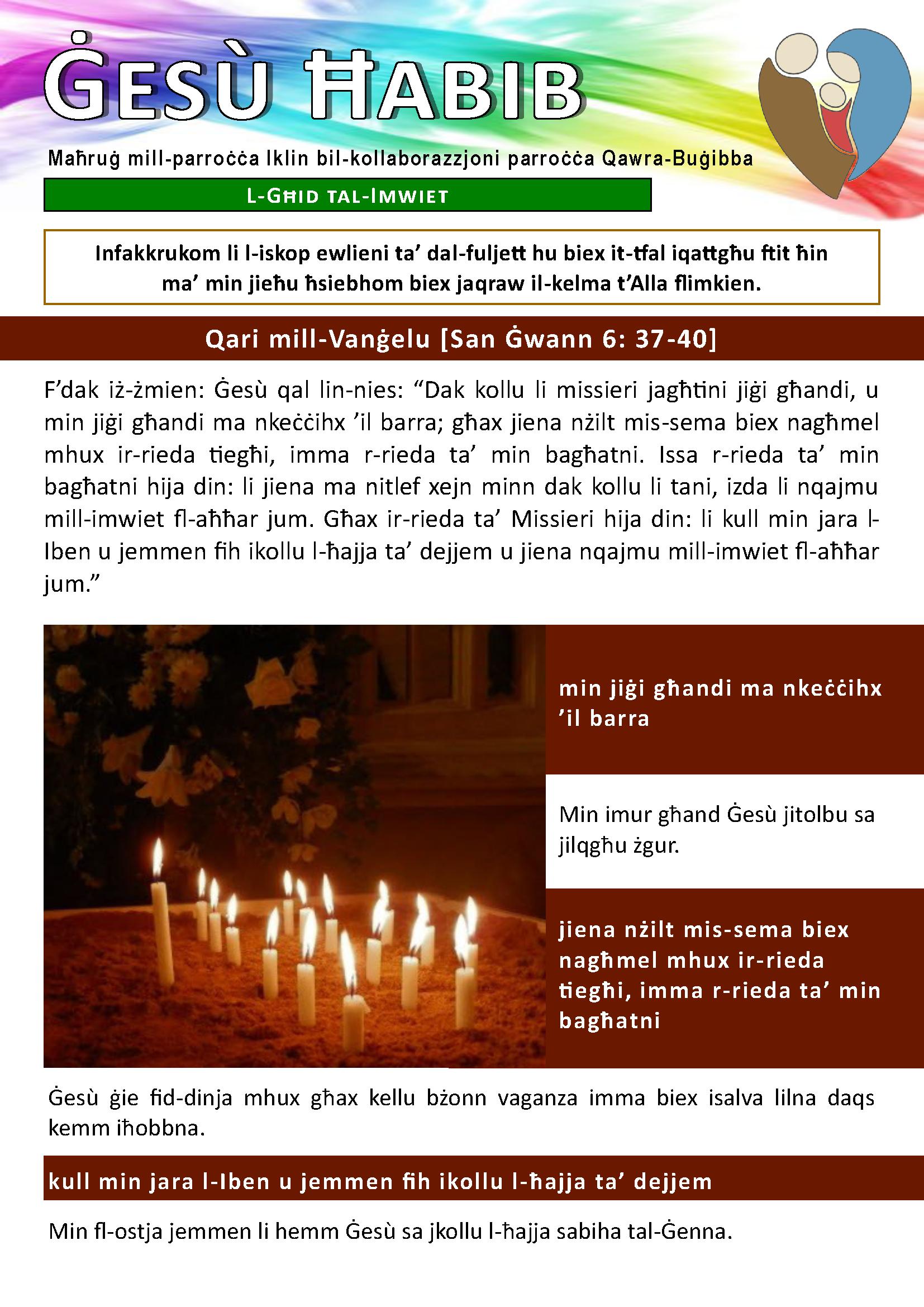 Fuljett Ġesu' Ħabib - 02/11/2014 (Page 1)
