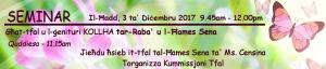 Seminar għat-tfal u l-ġenituri kollha tar-Raba' u l-Ħames Sena
